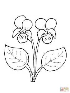 Violet Flower Coloring Page 301 moved permanently