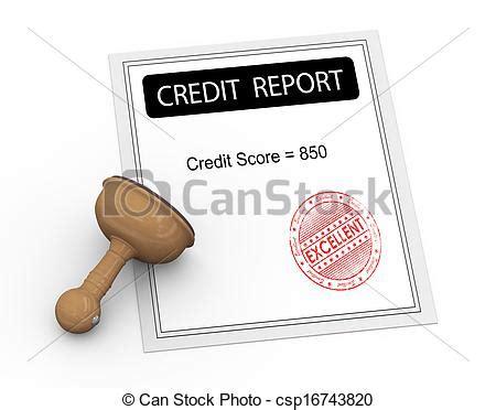 doodle free credit report clip of 3d excellent credit score report 3d