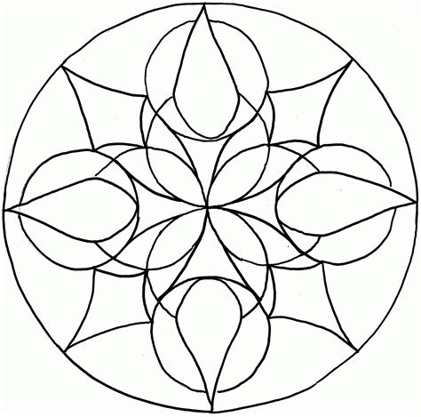 simple mandalas to print and color simple mandala coloring page coloring home