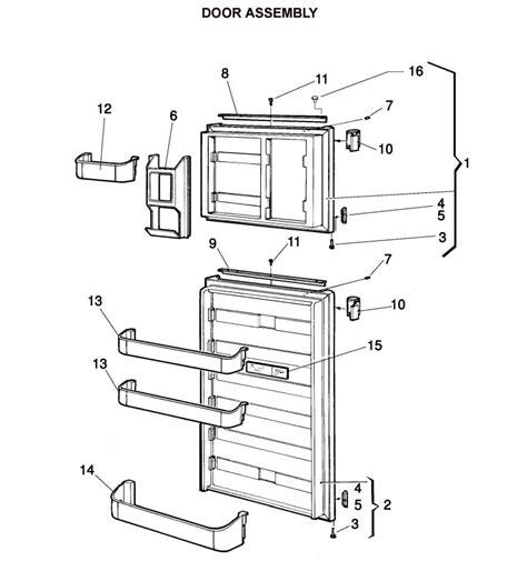 dometic refrigerator parts diagram refrigerator parts rm2652 dometic refrigerator parts