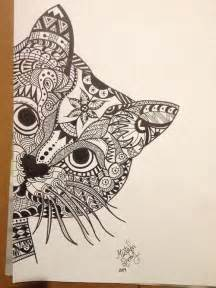 cat zentangle bing images doodles pinterest