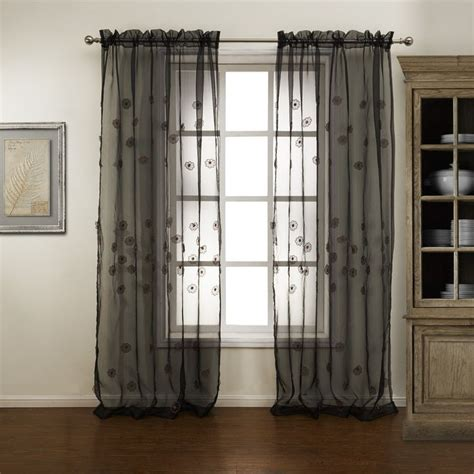 Sheer Black Curtains 47 Best Images About Sheer Curtains On Pinterest Valance Curtains Cotton Linen And Flowers