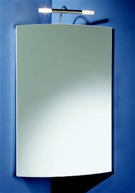 Corner Bathroom Cabinet With Mirror And Light Chiara Bathroom Corner Cabinet With Morrors And Lights By Hib