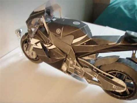 How To Make A Paper Motorbike - paper sculpture yamaha yzf m1 motorcycle