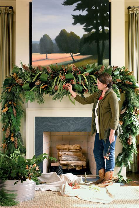 mantle swags mantel decorating ideas southern living