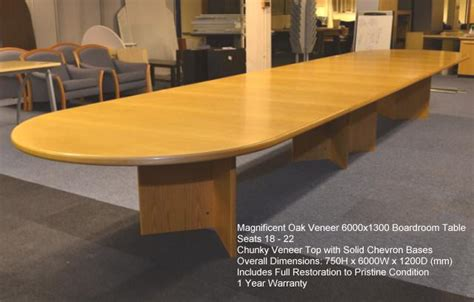 Oak Boardroom Table Oak Veneer Boardroom Table Edinburgh Recycle Edinburgh Recycle