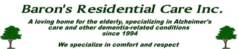 comfort care inc baron s residential care inc we specialize in comfort and