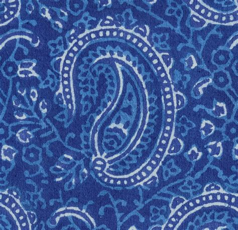 Blue Paisley Upholstery Fabric by Paisley Fabric Blue