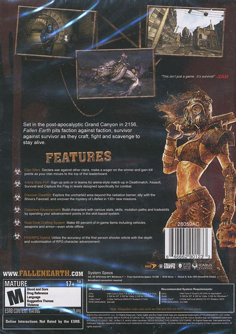blood and earth modern fallen earth blood sports shooter mmo rpg pc game windows xp vista 7 new box ebay