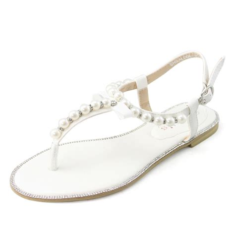 Wedding Shoes With Pearls by White Sandals White Sandals With Pearls