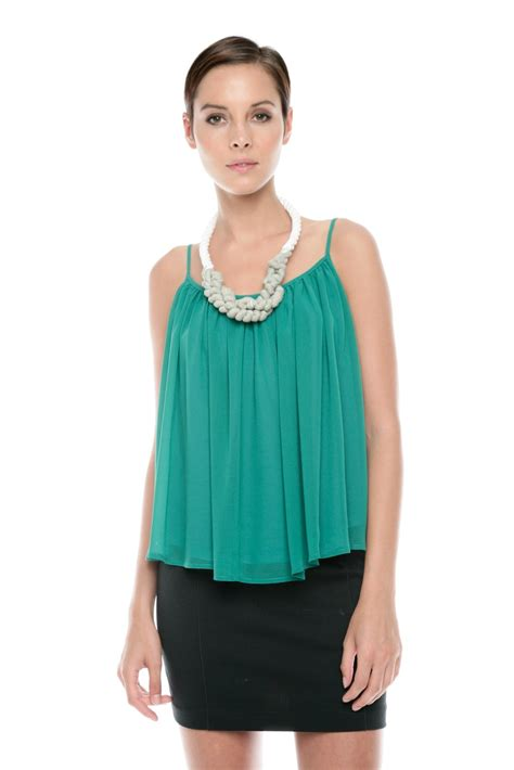 swing top shirt ark co spaghetti strap swing top from austin by gallery
