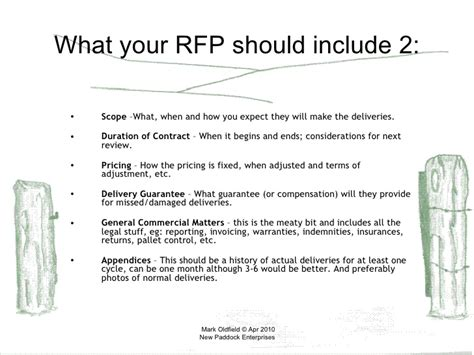 How To Write An Rfp For Freight Logistics Rfp Template