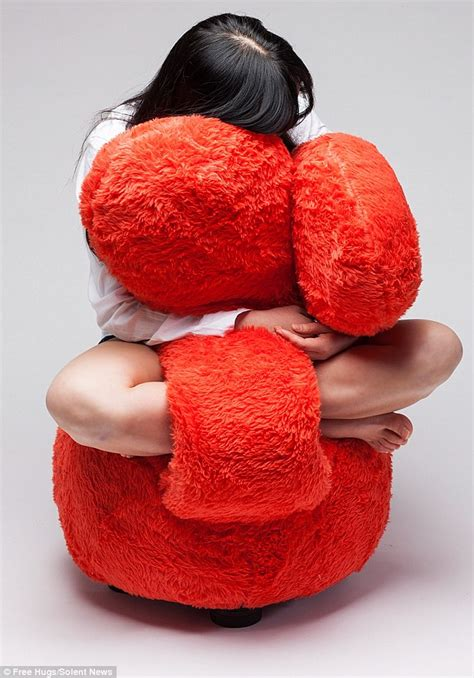 free hug sofa designer creates a sofa with bendy arms that give hugs