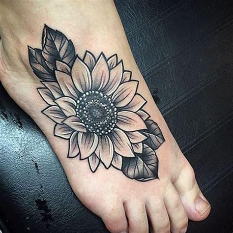 inner foot tattoo best 25 sunflower foot tattoos ideas on