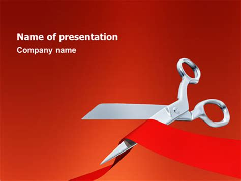 ppt templates for inauguration cutting red tape brochure template design and layout