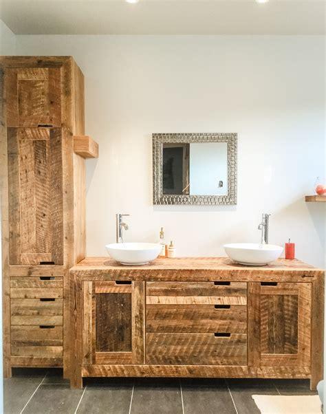 Formidable Salle De Bain Sur Plancher Bois #1: mobilier-salle-de-bain-bois-de-grange-espace-bois.jpg