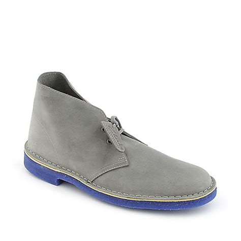 clarks desert boot mens grey casual boot