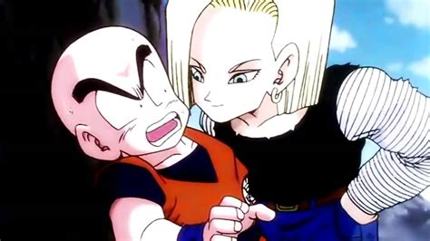 android 18 kisses krillin hd - Android 18 And Krillin