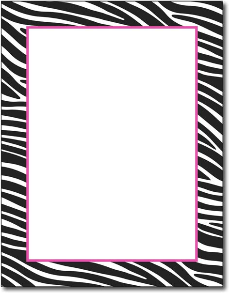 printable zebra border paper zebra stationery zebra border paper fun stationery