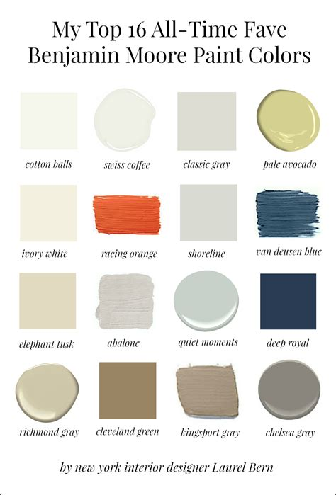 benjamin moor colors my 16 favorite benjamin moore paint colors laurel home