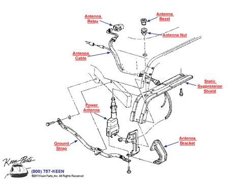 1989 corvette power antenna parts parts accessories for corvettes