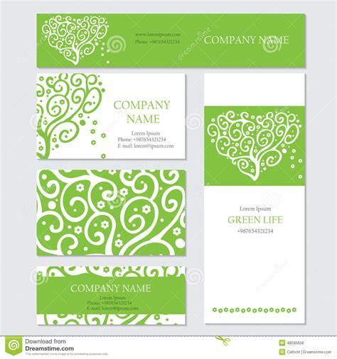 Set Of Business Or Invitation Cards Templates, Stock