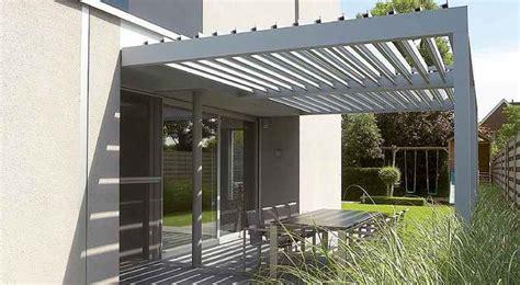 sichtschutz auf terrasse 688 angebaute pergola selbsttragend aluminium