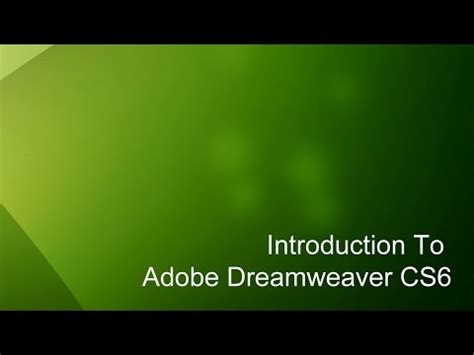 dreamweaver tutorial introduction uploaded by createthenet