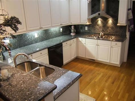 Blue Pearl Granite Backsplash by Blue Pearl Kitchen W Granite Backsplash Yelp