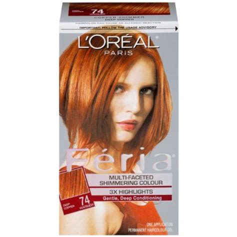 how to find the right loreal feria hair color ehow l oreal paris feria copper shimmer 74 my red curly