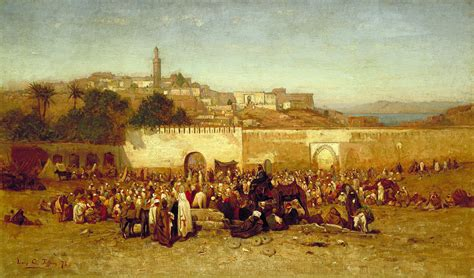 moroccan art history file louis comfort tiffany market day outside the walls