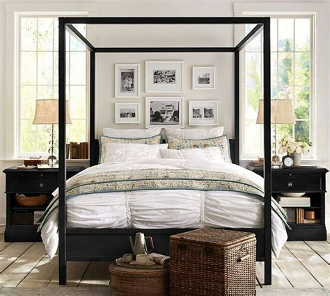 canopy bed master bedroom pottery barn master bedroom ideas four post beds