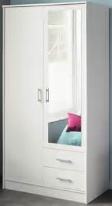 White Wardrobe With Mirror Parisot Infinity Wardrobe In White With Mirror