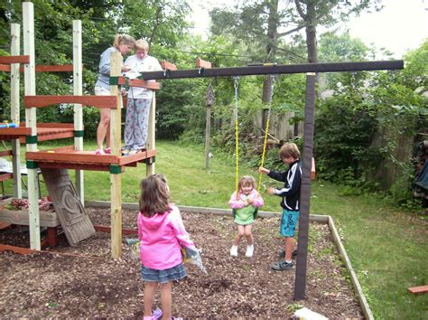 creating a personalized backyard playset a family