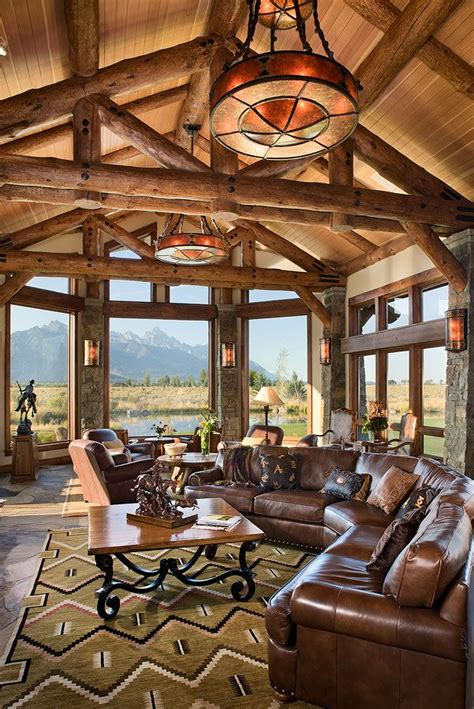 homes with great rooms log home great room log homes