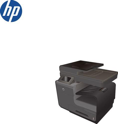 Printer Hp Officejet Pro X576 hp officejet pro x476dw printer manual