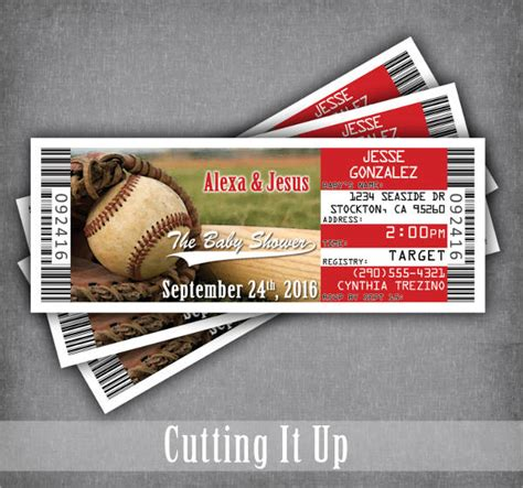 baseball ticket template 9 baseball ticket templates free psd ai vector eps