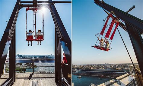 swing amsterdam tourists fling themselves off the edge of a 22 storey
