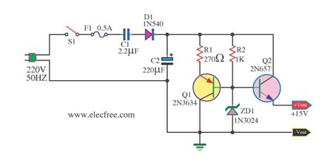 high c supply transformerless ac to dc power supply circuits
