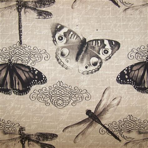 Butterfly Upholstery Fabric by Belgrave Graphite Butterfly Drapery Fabric Sw28589