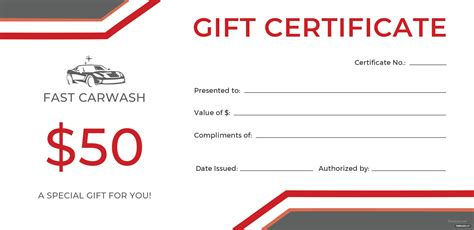 Free Carwash Gift Certificate Template In Adobe Illustrator Microsoft Word Publisher Apple Car Detailing Gift Certificate Templates