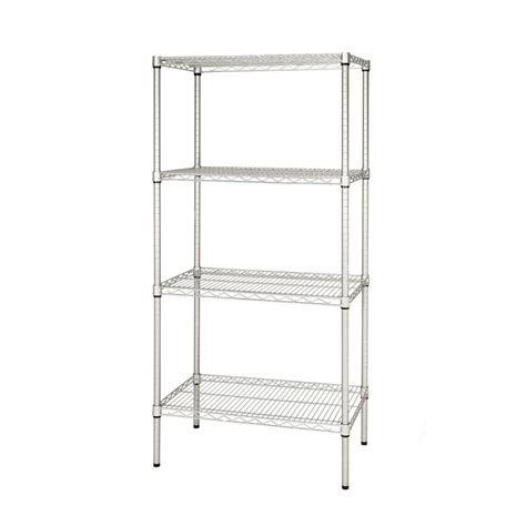Wire Storage Rack by 1625mm High Chrome Wire Shelving Unit