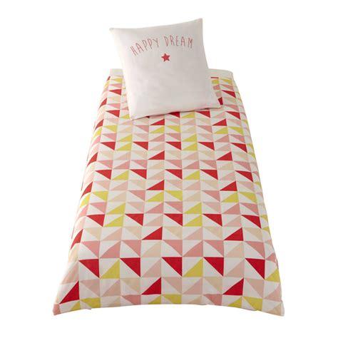 da letto rosa parure da letto rosa giallo in cotone per bambini 140 x