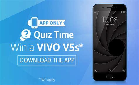 amazon quiz time amazon quiz time win vivo v5s smartphone flashsaletricks