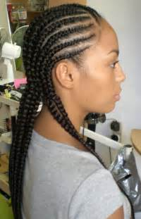 braided extenions hairstyles cornrow with extension afrolydia
