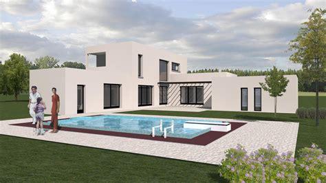 Maison De Taille by Charmant Style De Maison Moderne Plain Pied 8 Plan De