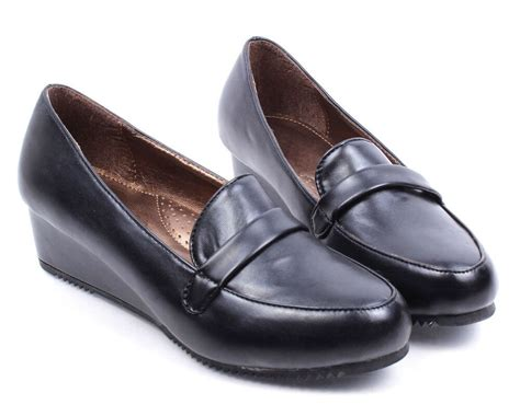 1 inch wedge dress shoes black toe classic casual platforms wedges 1 5 quot low heels womens shoes ebay