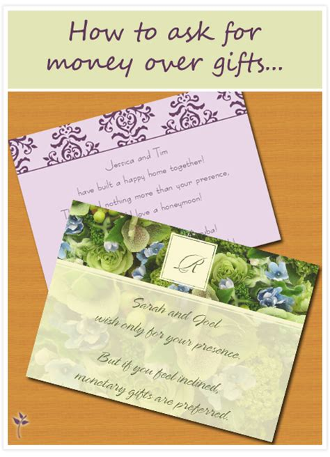 money wedding gift how to ask for money for your wedding wedding tips