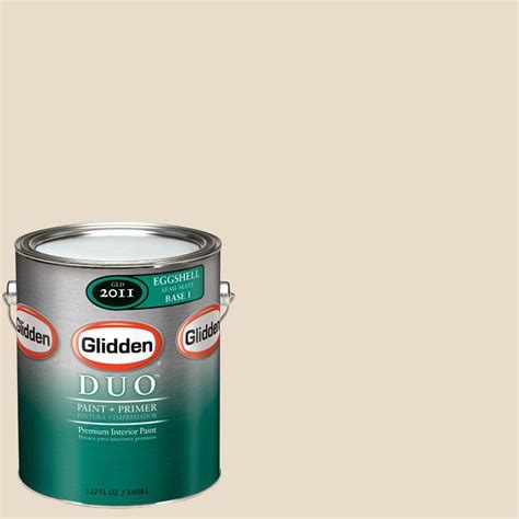 glidden duo 1 gal gln09 antique beige eggshell interior paint with primer gln09 01e the home