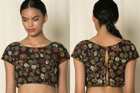 boat neck with front open 10 must try simple saree blouse front and back designs